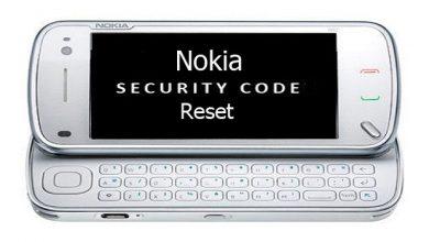 Reset Nokia Security Code