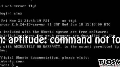 fix -bash: aptitude: command not found
