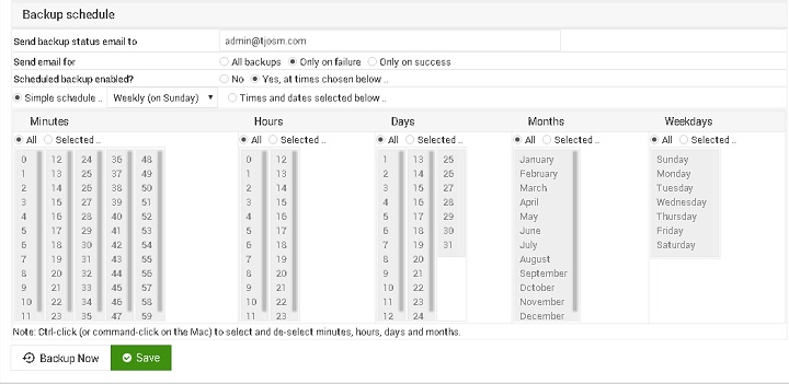 virtualmin-db-backup-schedule