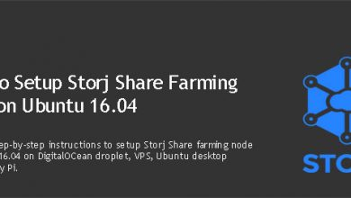 set up Storj Share farming node on Ubuntu
