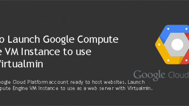 launch Google Compute Engine VM instance for Virtualmin