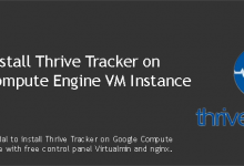 Install Thrive Tracker on Google Compute Engine