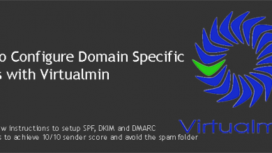 Configure Domain Specific Emails with Virtualmin